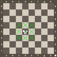 King chess moves