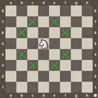 Knight chess moves